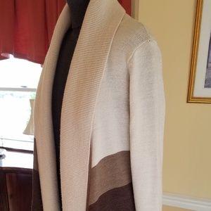 Tahari Sweater Long with Pockets